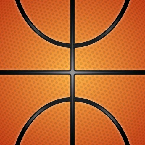 Realistic Basketball Texture Illustration.  vector