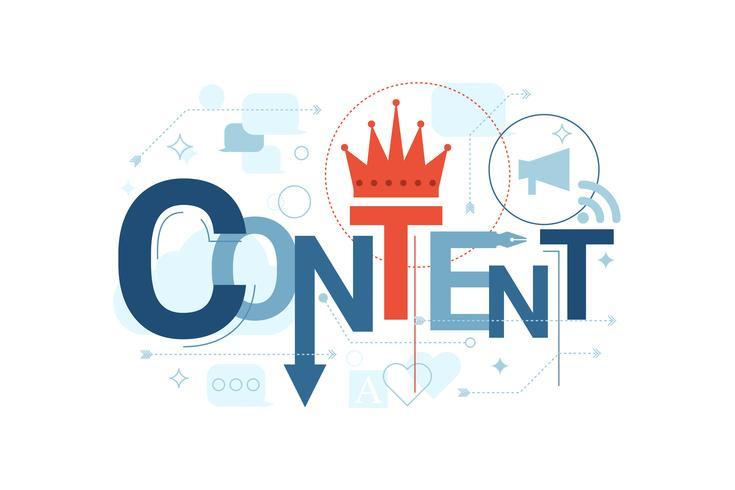 Tipografia de palavras de conteúdo
