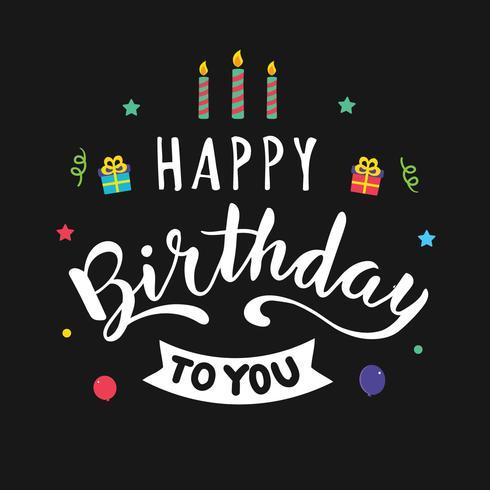 Alles Gute zum Geburtstag Typografie für Grußkarte
