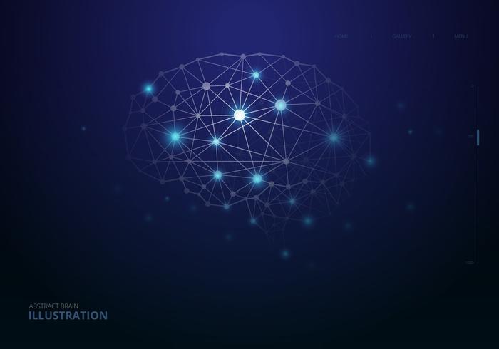 Ilustración de hemisferios del cerebro humano
