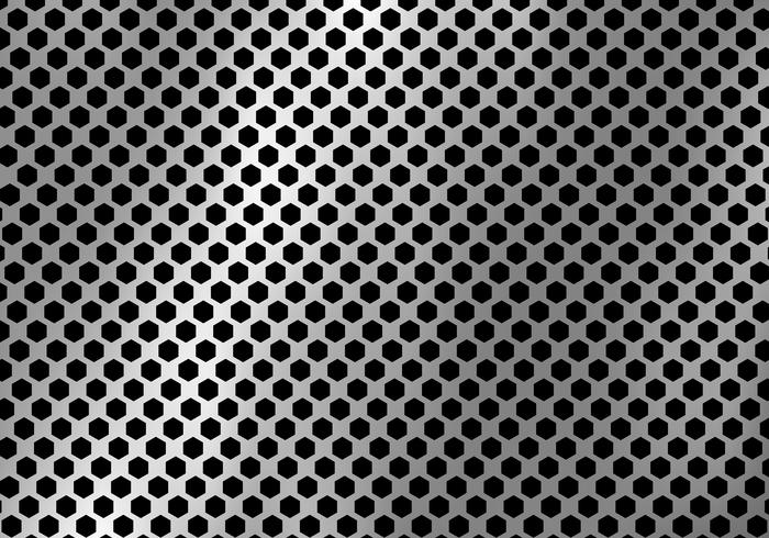 Abstract silver metal background made from hexagon pattern texture. vector