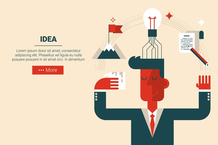 Creative idea concept vector