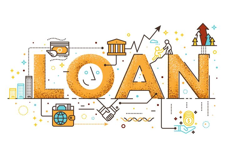 Personal loan illustration vector