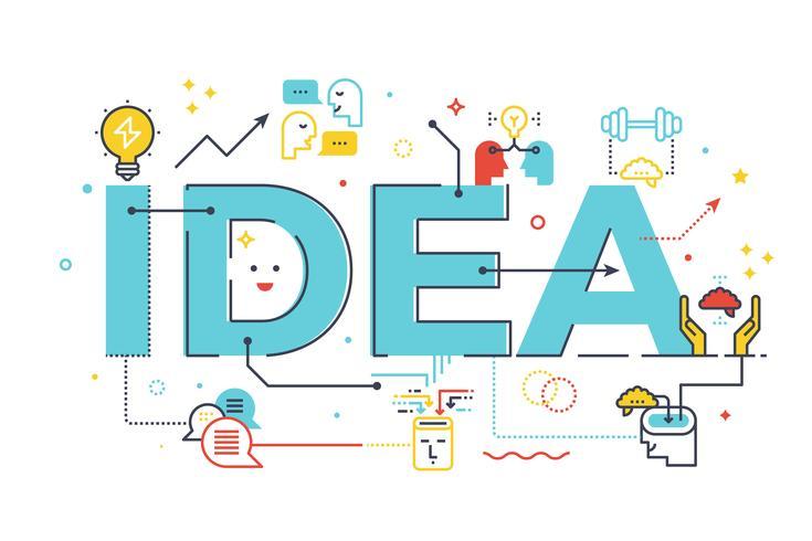 Creatief idee woord
