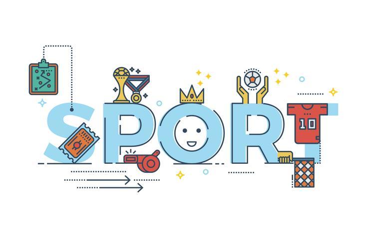 Illustrazione di parola sport