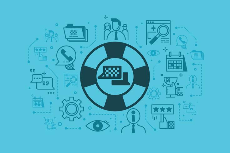 Illustrazione di concetto del servizio clienti vettore