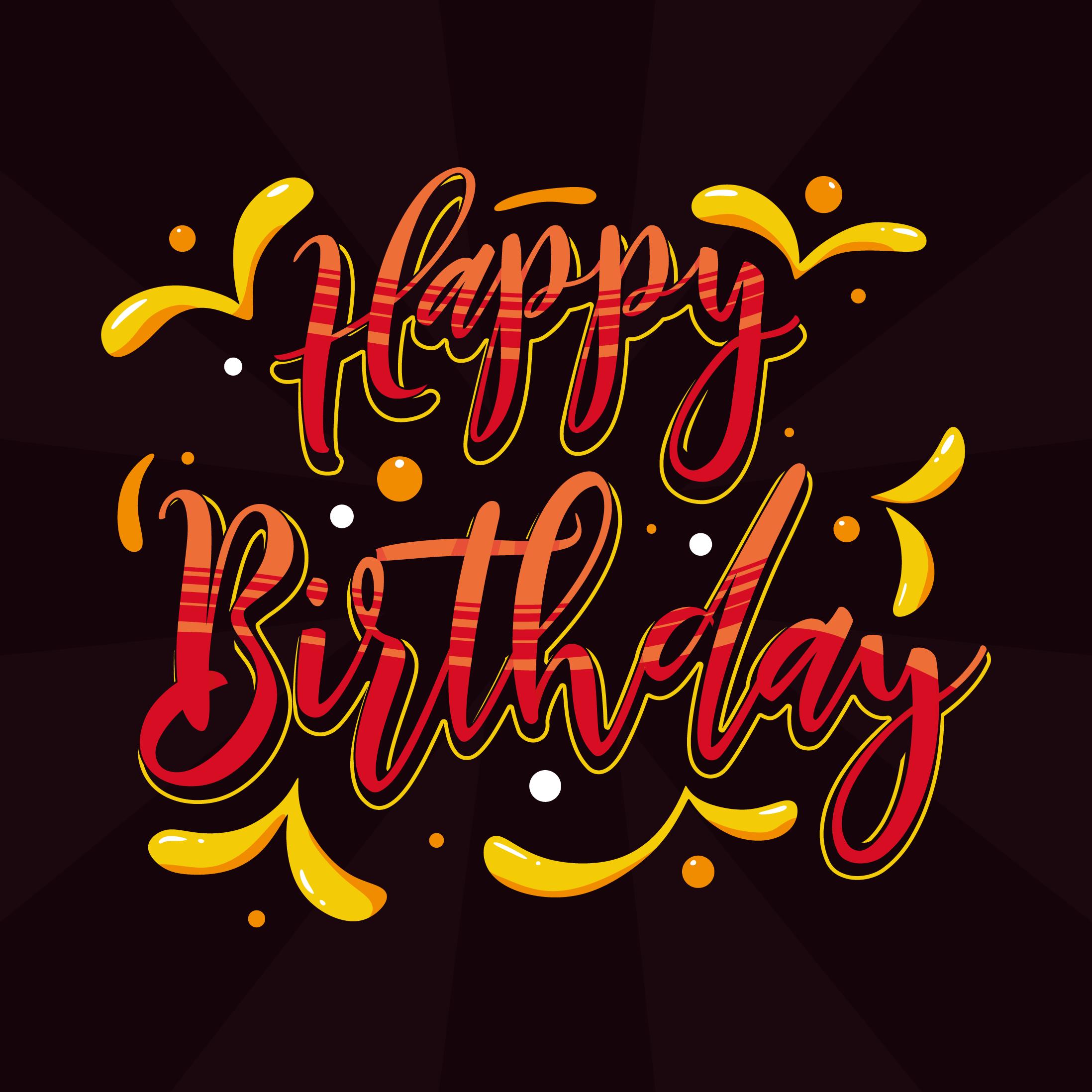 happy birthday typography vector  download free vectors