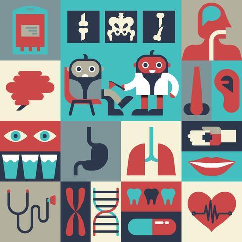 Conceito de saúde vetor