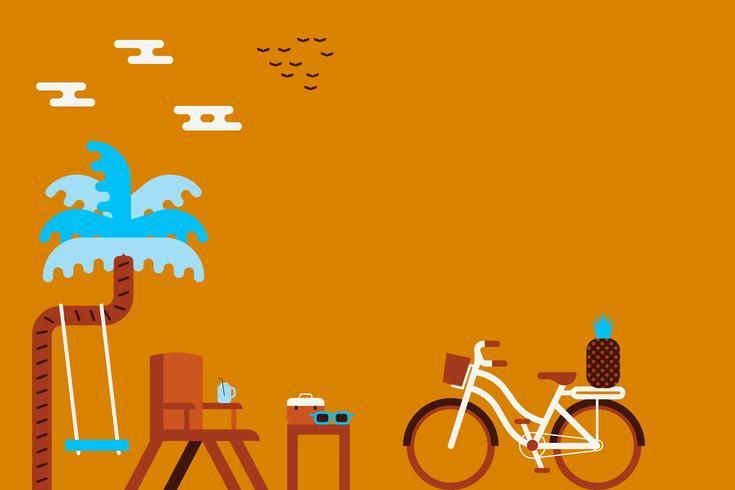 Ilustração do conceito de verão