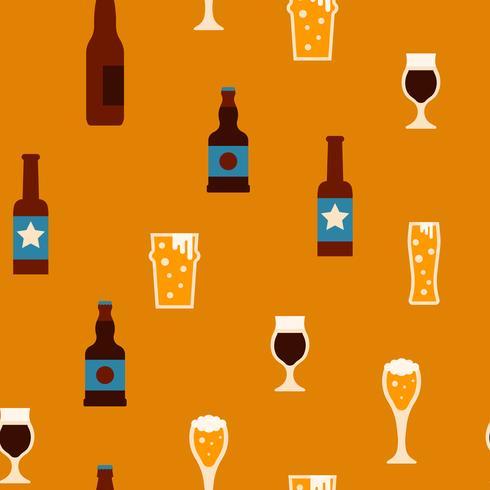 Bier naadloze achtergrond vector