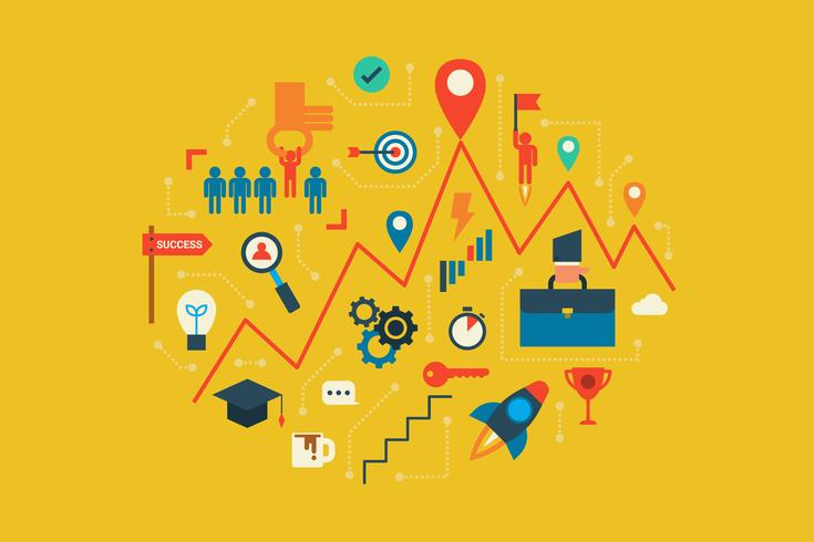 Career and opportunities vector