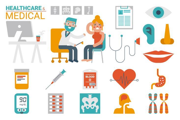 Assistenza sanitaria e infografica medica