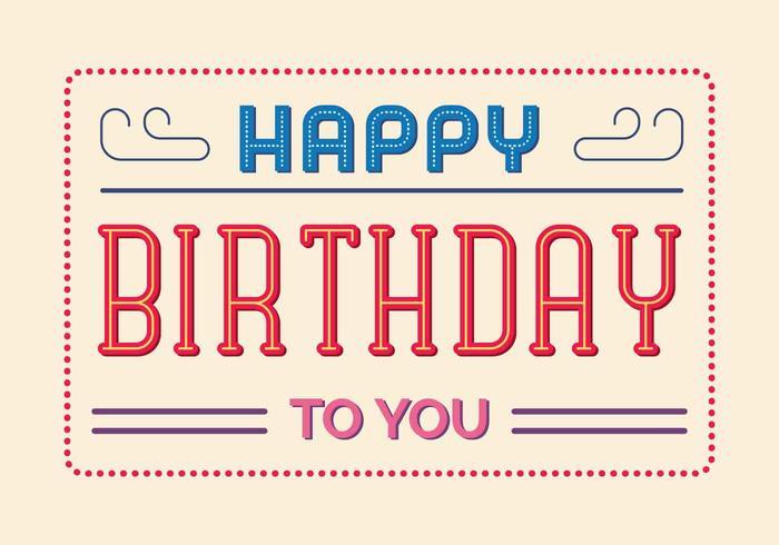 Alles Gute zum Geburtstag Typografie Illustration