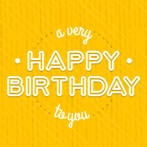 Vintage Birthday Card Lettering Design Template Download Free Vectors Clipart Graphics Vector Art
