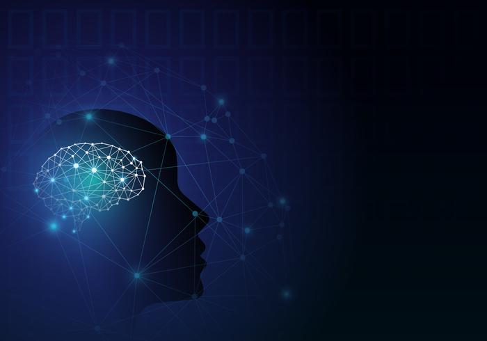 Artificiell intelligens. Virtuellt koncept.