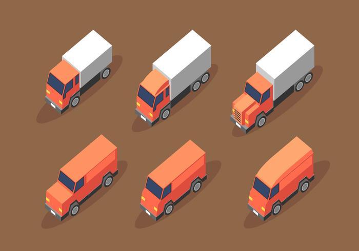 Isometrisk Van Truck Clip Art Vektor