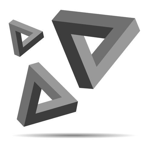 triangel optisk illusion