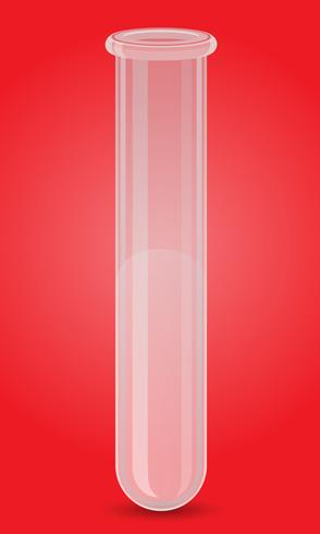 illustrazione vettoriale di vetro provetta