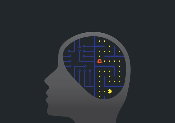 Illustration d'hémisphères de cerveau humain vecteur
