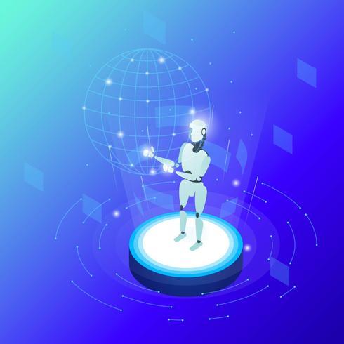 Vecteur robotique AI
