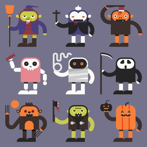 Halloween-Charaktere vektor