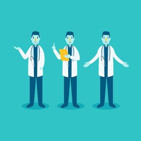 Gesundheitswesen Character Doctor