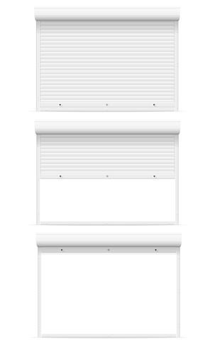 persianas enrollables ilustración vectorial