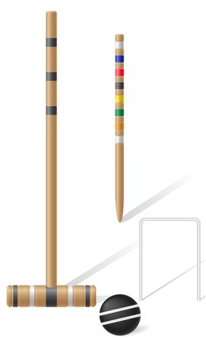 equipo para croquet ilustración vectorial vector