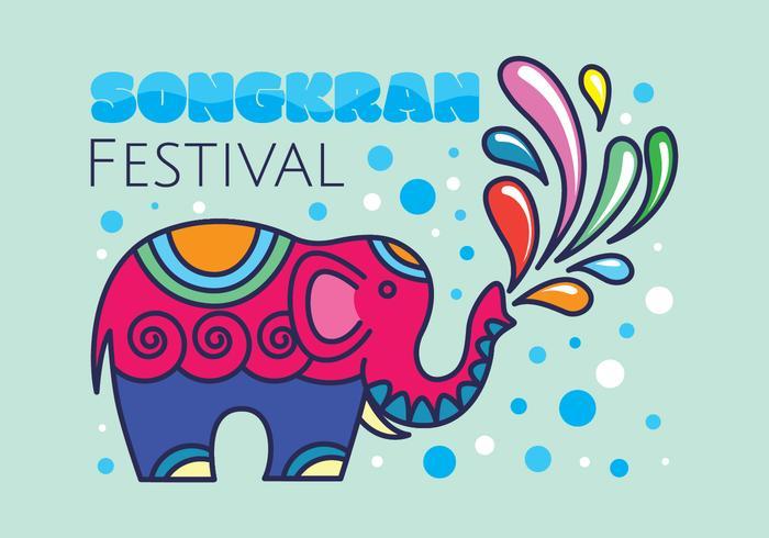 Ilustración del festival de Songkran vector