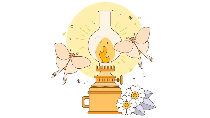 Vector De Lámpara De Keroseno