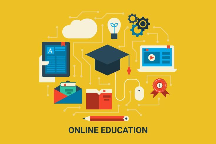 Onlineutbildning vektor