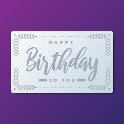 Happy Birthday Greeting Card Elements vector