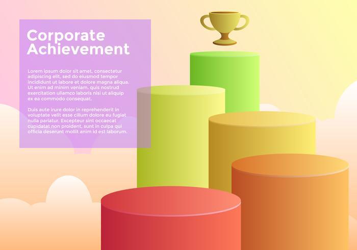 Corporate Achievement Goals Vector