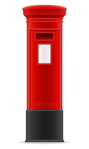 Londen rode brievenbus vectorillustratie