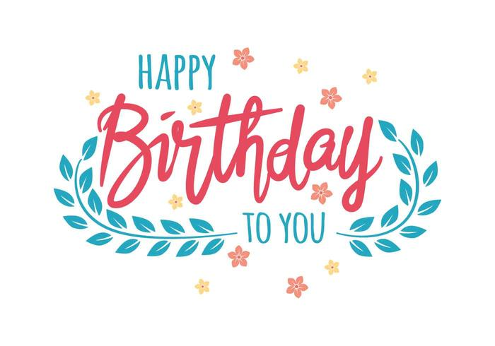 Happy Birthday Typography Vector Illustration