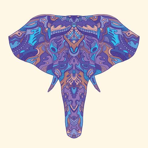 Geschilderde olifant illustratie.