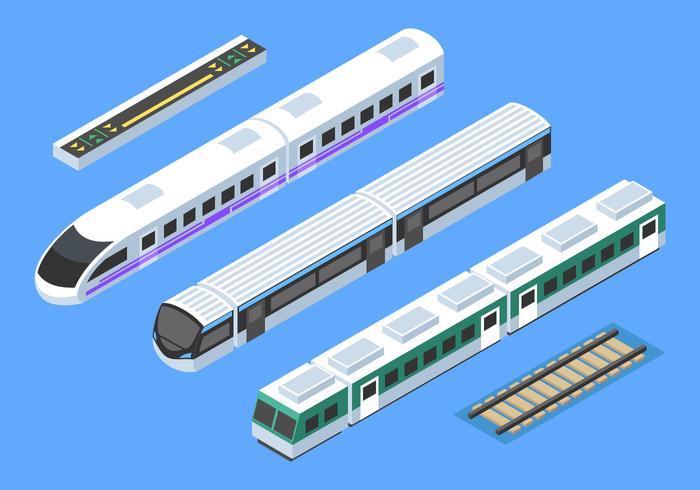 isometrisk tåg clip art vektor