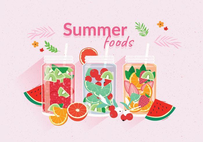 Summer Foods  vector