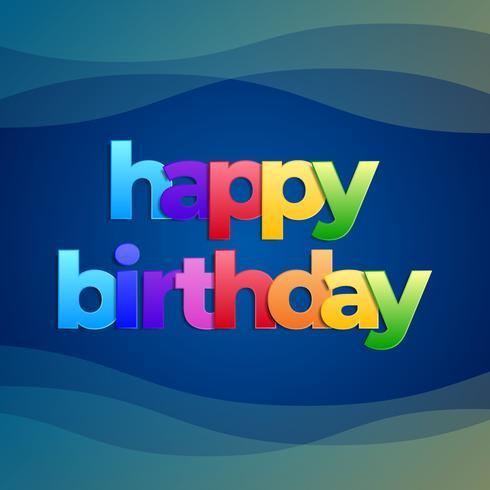 Grattis på födelsedagen Typografi Vektorhälsningskort Design