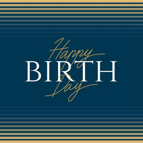 Grattis på födelsedagen Elegance Typography
