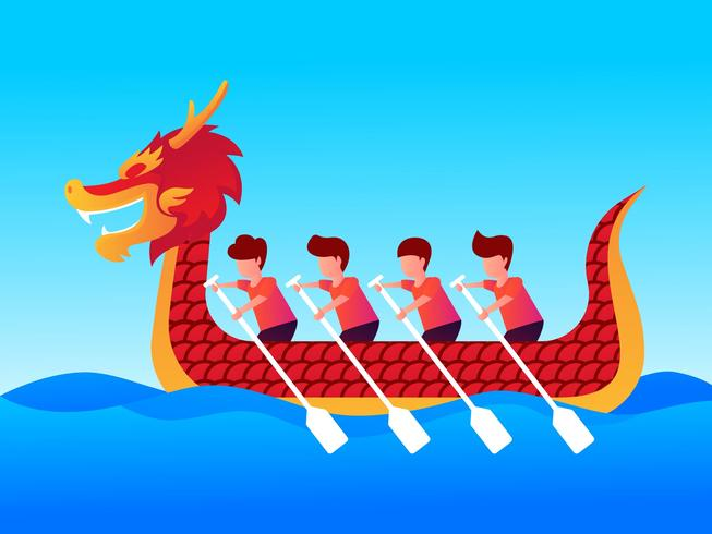 Cool Dragon Boat Festival vector