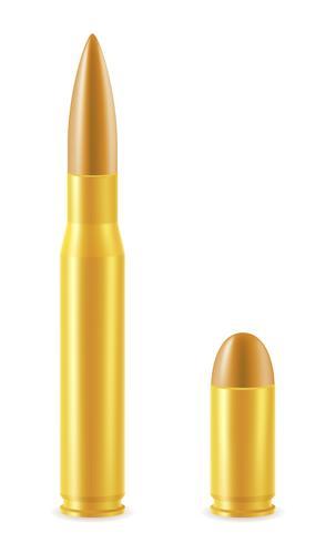 cartucho de bola com uma ilustração do vetor de bala