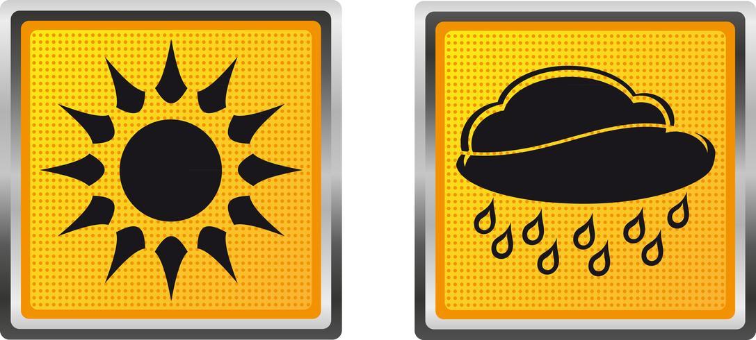 ikoner väder för design vektor illustration
