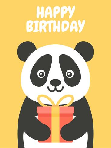 Gelukkige verjaardag Panda