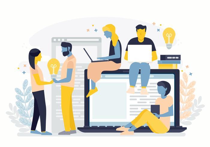 Vector Team werk illustratie