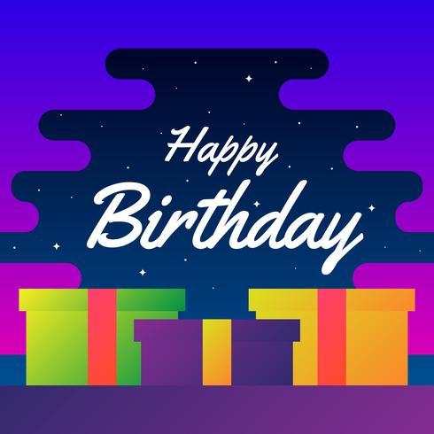 Diseño del vector de la tipografía del feliz cumpleaños para el cartel de las tarjetas de felicitación