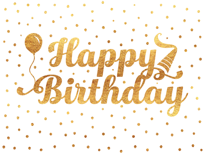 Grattis på födelsedagen typografi