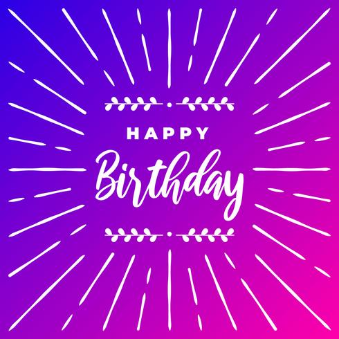Gelukkige verjaardag typografische vector wenskaarten ontwerp