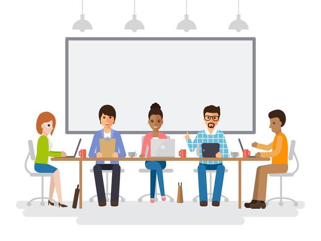 Encuentro de empresarios y empresarias. vector