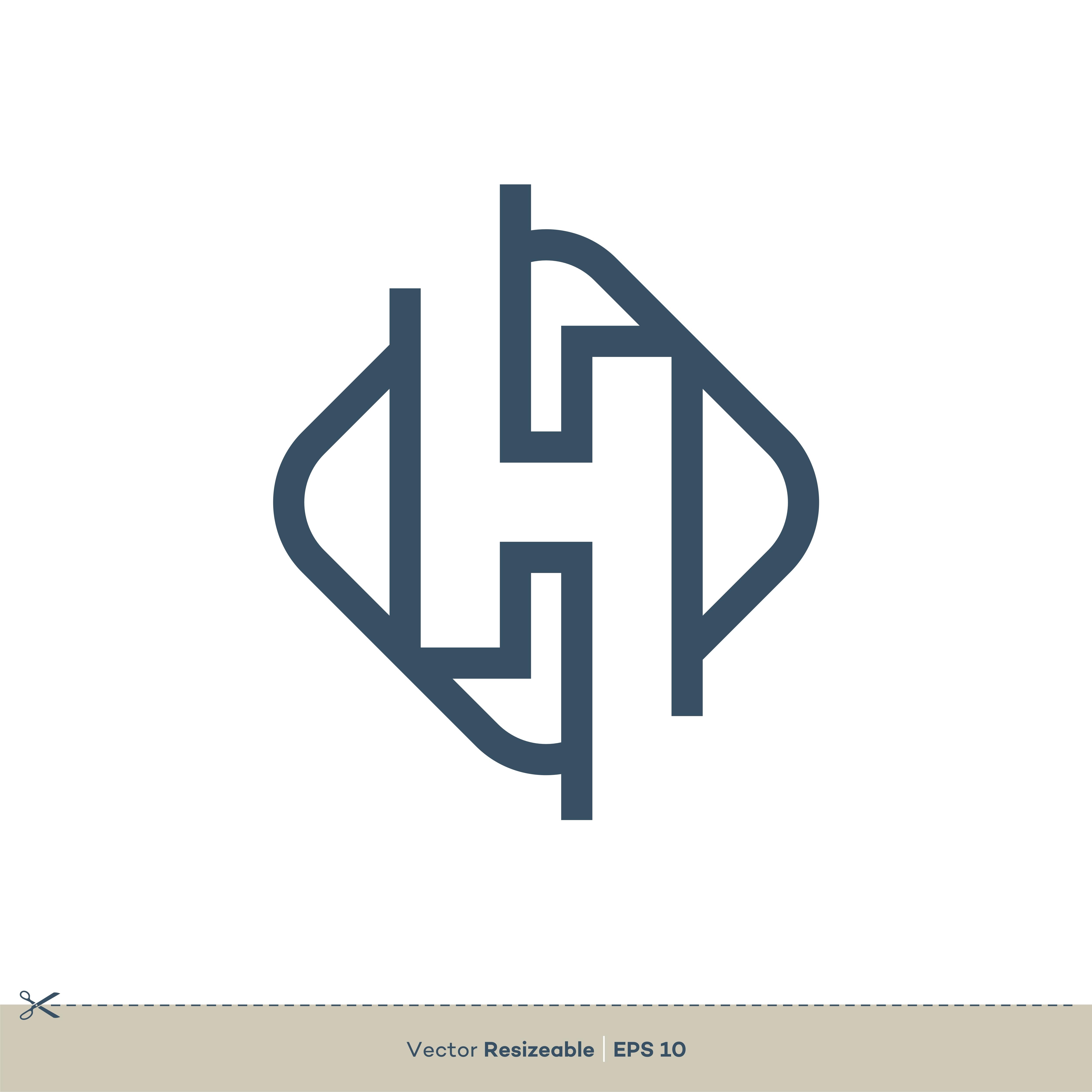 H Letter Vector Logo Template Illustration Design